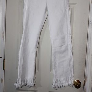 white highwasted jeans